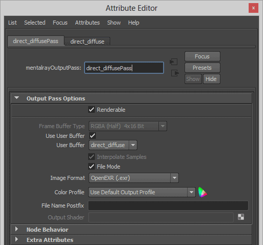 Direct Diffuse Output Shader