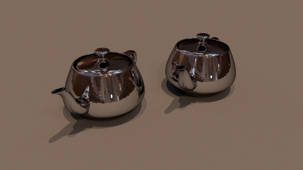 Rendered with higher resolution to capture more lighting and details like multiple shadows