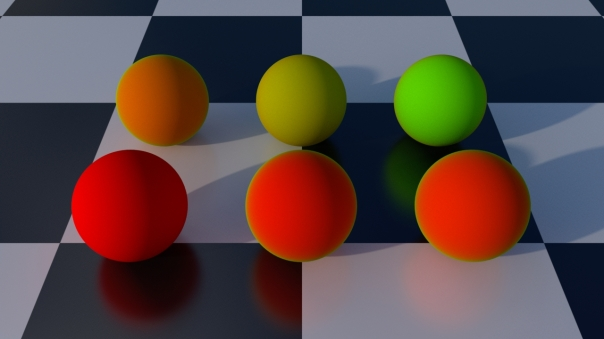 Fresnel weighting of diffuse colors
