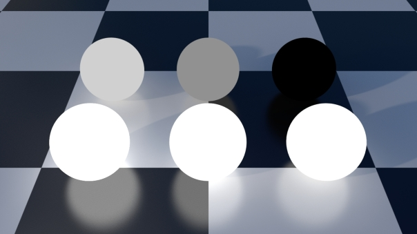 Emission shades of grey multiplied by 2.0 in the shader