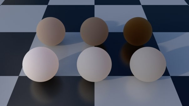 Subsurface scattering with the front weight attenuated through grey tint