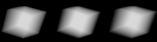 144° None (Box), 144° Trapezoidal Shutter @ 80%, 180° Trapezoidal Shutter @ 80%
