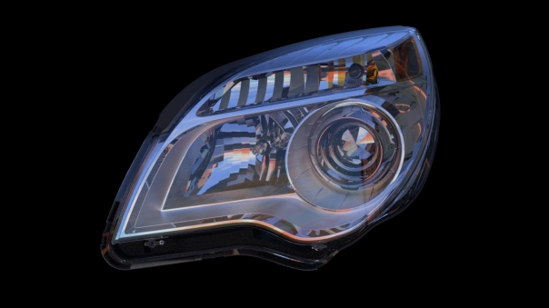 Headlamp with lens cover