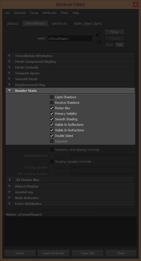 Control certain attributes through the Shape node