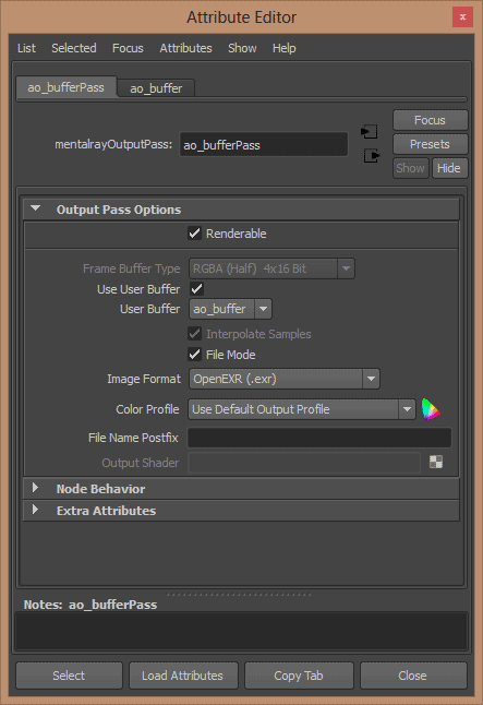 Camera Output Pass added