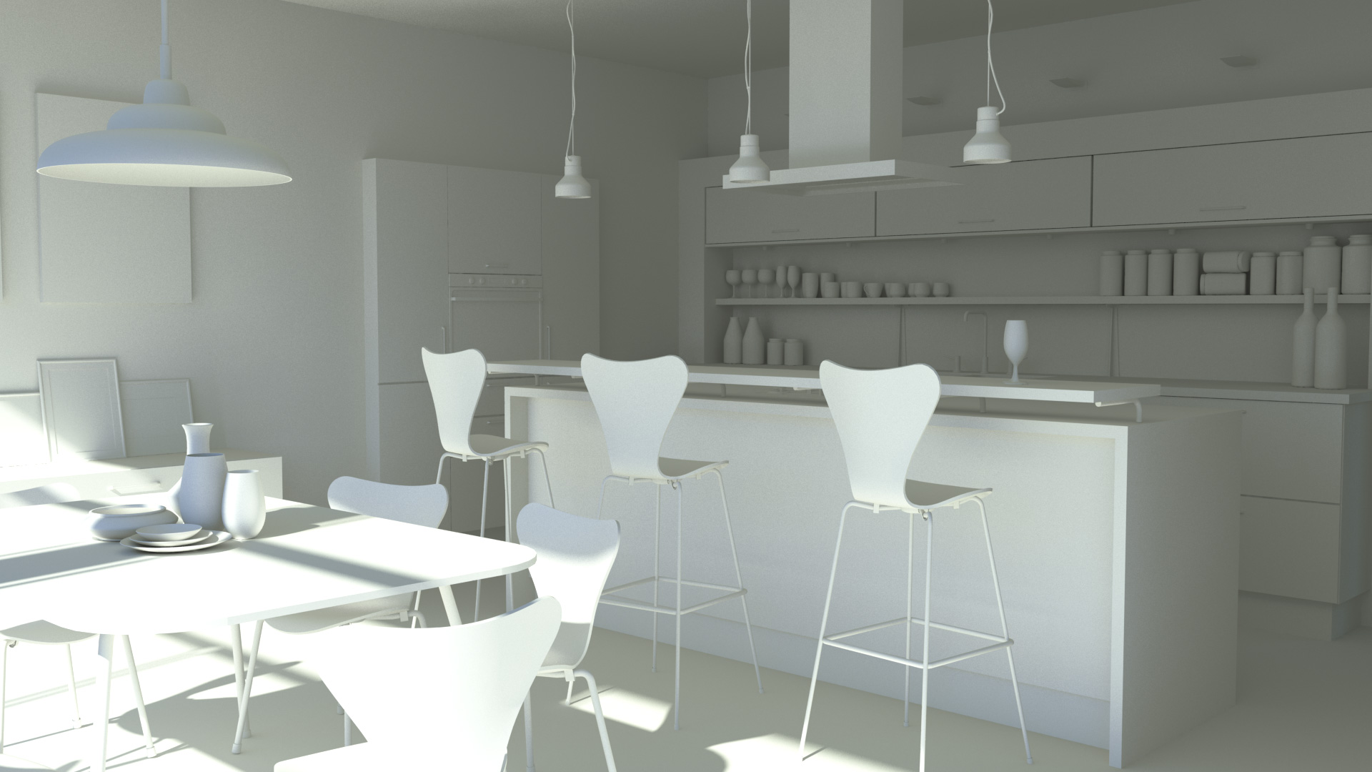 Irradiance particles elemental ray - Kitchen design tutorial ...