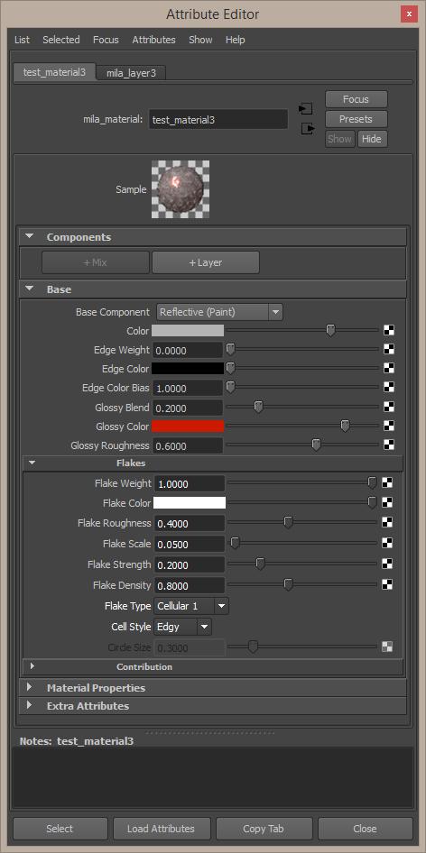 Reflective Paint default settings